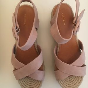 Halogen Blush Wedge Sandal
